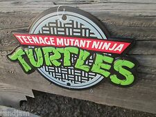TMNT TEENAGE MUTANT NINJA  METAL SIGN VINTAGE LOOK VIDEO PINBALL COIN AMUSEMENT