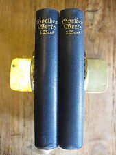 Goethes Werke 2 Bände von Gerhart Hauptmann  K0029