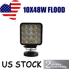 10 x 48W Flood LED Off road Work Light Lamp 12V 24V car boat Truck Driving UTE