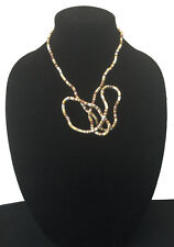 BENDABLE SNAKE CHAIN FLEXIBLE TWIST NECKLACE - BROWN/GOLD