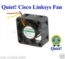 Super Quiet Cisco Linksys SRW2008P FAN, 1x new Sunon MagLev fan 12dBA Noise