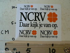 STICKER,DECAL NCRV SHOWROOM DAAR KIJK JE VAN OP SHEET A