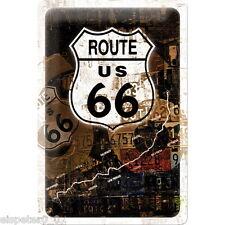 Letrero de metal 20 x 30,Ruta 66 Óxido Collage,Cartel publicitario Art. 22115