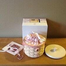 Longaberger 2006 Whitewashed Horizon of Hope Basket Combo w/  Lid & Tie-On