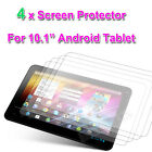"""4 X SCREEN PROTECTOR FOR 10.1"""" inch Jelly Bean 4.2 DUAL CORE MID Android Tablet"""