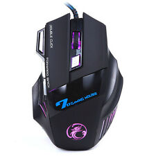 3200DPI LED Optical Mouse 7D USB Wired Gaming Game Mouse For PC Laptop