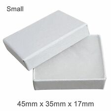 White Cardboard Jewellery Gift Box Cotton Cushion Strong Jewelry Box - SMALL
