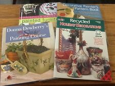 DECORATIVE TOLE PAINTING BOOKS PATTERN BOOKS LOT OF 4 DEWBERRY, HAUSER, BASKETT