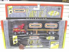 Matchbox 1996 PREMIERE RIGS SERIES 1 Two Containers w Matchbox Logo Kenworth Rig