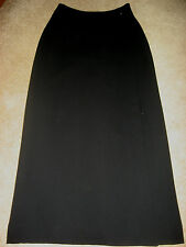 Womens Black DANA BUCHMAN Lined Wrap Full Length Skirt 4 Long