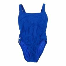 SPEEDO SIZE 14 WOMEN'S ROYAL BLUE ONE-PIECE SWIM SUIT