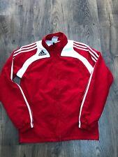 Para Hombre Adidas Rojo Blanco Chaqueta De Entrenamiento Chándal Aspecto Retro Top-Tamaño X Small