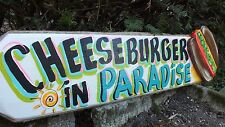 CHEESEBURGER IN PARADISE TROPICAL POOL BEACH HOUSE TIKI BAR SIGN PLAQUE
