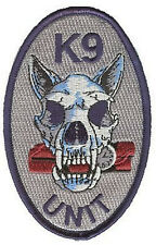 K9 Unit police canine unit bomb sniffers navy blue merrowing generic patch