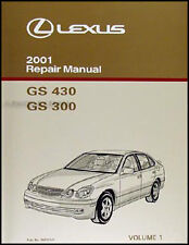 2001 Lexus GS 300 430 Repair Manual Vol 1 GS300 GS430 Original OEM Shop Service