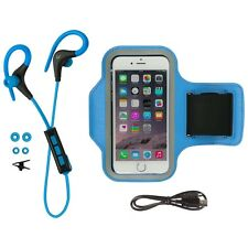 KITSOUND Race Bluetooth Headphone Bundle with Universal Armband - Blue
