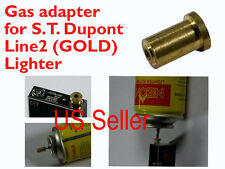 1X Gas Refill Adapter for REAL ST. Dupont lighter Line 1/2 Gold Cap