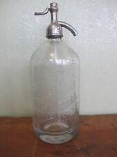 Rare Rochester Soda Water Co Siphon Bottle Soda Fountain Cafe Coffee Seltzer
