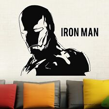 IRONMAN Wall Decal Stickers Marvel Comics Decor Modern Stickers Vinyl Black