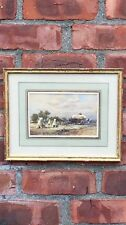 Signed Landscape Painting By Swiss Artist Friedrich Bentz. Mary Braga Collection