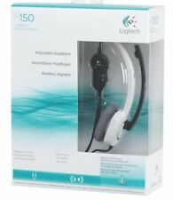 Logitech H150 Stereo Headset-Cloud White w/ Microphone for PC/Mac NEW UNOPE