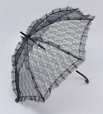 Señoras Vestido Elegante Encaje Negro Parasol/Brolly