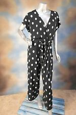 NEW $79 ALFANI sexy polka dot faux wrap belted capri cropped jumpsuit jumper XL