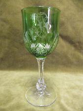 superbe verre à vin en cristal overlay vert baccarat? (crystal wine glass)