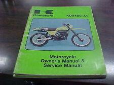 Vintage Kawasaki KDX 400 A-1 Owner's & Service Manual