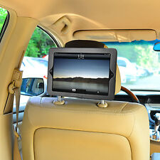 New iPad 2 &iPad 3 Premium PU Leather Car Headrest Mount for kids'safety