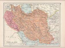 1923 MAP ~ Persia Iraq & ~ khurasan KERMAN farsistan