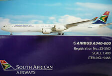 Hogan Ali 1:400 Airbus A340-600 Sud Africano Airways + Herpa-wings Catalogo