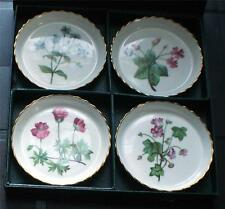 New in Original Box MINTON Bone China England WILD FLOWERS Set of 4 Coasters