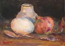 OriginalOil painting, Still life kitchen art Farm Food