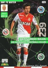 216 BERNARDO SILVA PORTUGAL AS.MONACO ONE TO WATCH CARD ADRENALYN 2016 PANINI