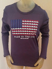 NWT New Balance 990 AMERICAN FLAG Made in the USA Slim Fit LS T-Shirt Womens XS