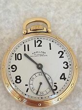 Hamilton 950B 23J 16s Railroad Pocket Watch Original Railway Special Dial