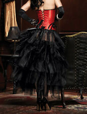 Women's Burlesque Petticoat Tutu Underskirt Fancy Dress Costume Long Skirt New