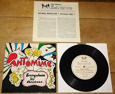 BEATLES ~ PANTOMIME EVERYWHERE IT'S CHRISTMAS ~ 4TH FAN CLUB FLEXI 1966 + INSERT
