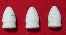 3 Excavated Civil War .50 Cal. Smith Carbine Bullets  - Manassas