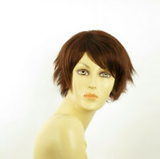 short wig for women dark brown copper intense ref: ROMANE 322 PERUK
