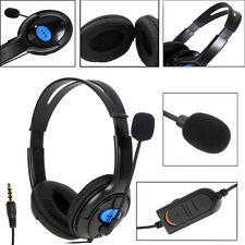 Quality Gaming Wired Headset Headphones + Microphone for Sony PS4 PlayStation 4