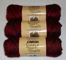 "Caron Simply Soft ""Paints"" Yarn Lot Of 3 Skeins (Sunset #0008) 4 oz."