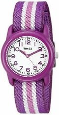 Timex TW7C06100, Kid's Purple Striped Nylon Strap Watch, TW7C061009J
