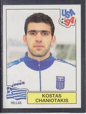 Panini - USA 94 World Cup - # 282 Kostas Chaniotakis - Hellas (Black Back)