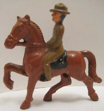Old Cast Iron Mounted Military Officer on Horseback - Army Soldier on Horse