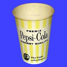 "10 Original 1950""s Pepsi Cola Soda Machine Premix Paper Cups Soda Fountain"