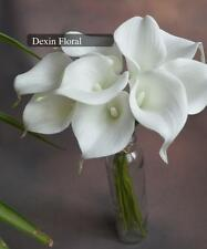 27PCS PU Real/Natural Touch Flowers White Calla Lily for Silk Bridal Bouquets