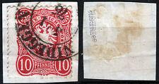 DR 33 aa Bfst. NIEDEGGEN, 10 Pfennige Reichsadler, blutrot, gepr. Zenker BPP
