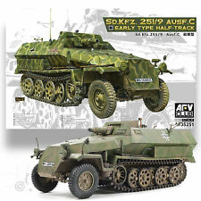 AFV CLUB 1/35 GERMAN WWII HALF TRACK (EARLY) SD.KFZ.251/9 AUSF.C *METAL BARREL